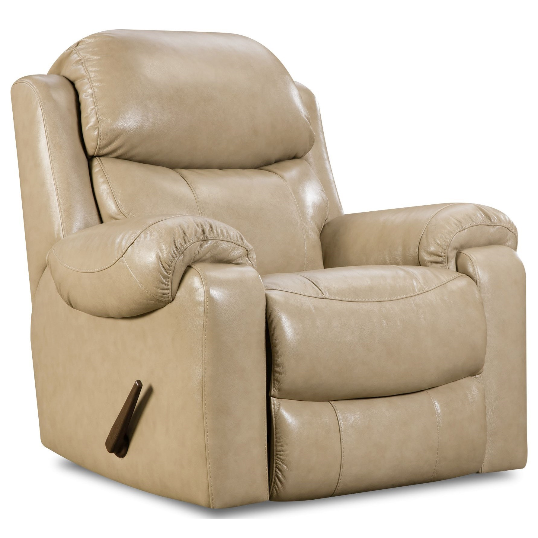 Recliner Pillow Homestretch 135 Collection Power Rocker Recliner With Pillow Arms